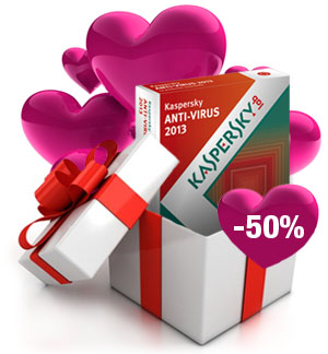 Kaspersky Anti-Virus -50%